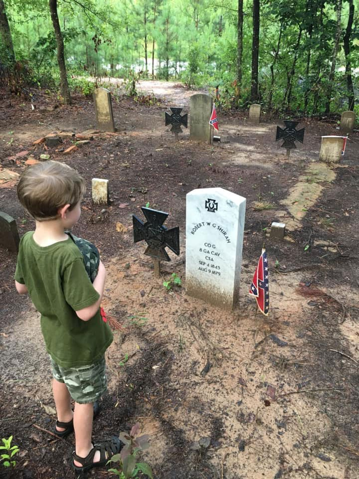 Since taking the Historic Shiloh Methodist Cemetery in Byron, Georgia on as a Camp project, members of The Lt. James T. Woodward, Camp #1399 of the Sons of Confederate Veterans have dedicated countless hours and dollars cleaning, repairing, and maintaining the grounds.