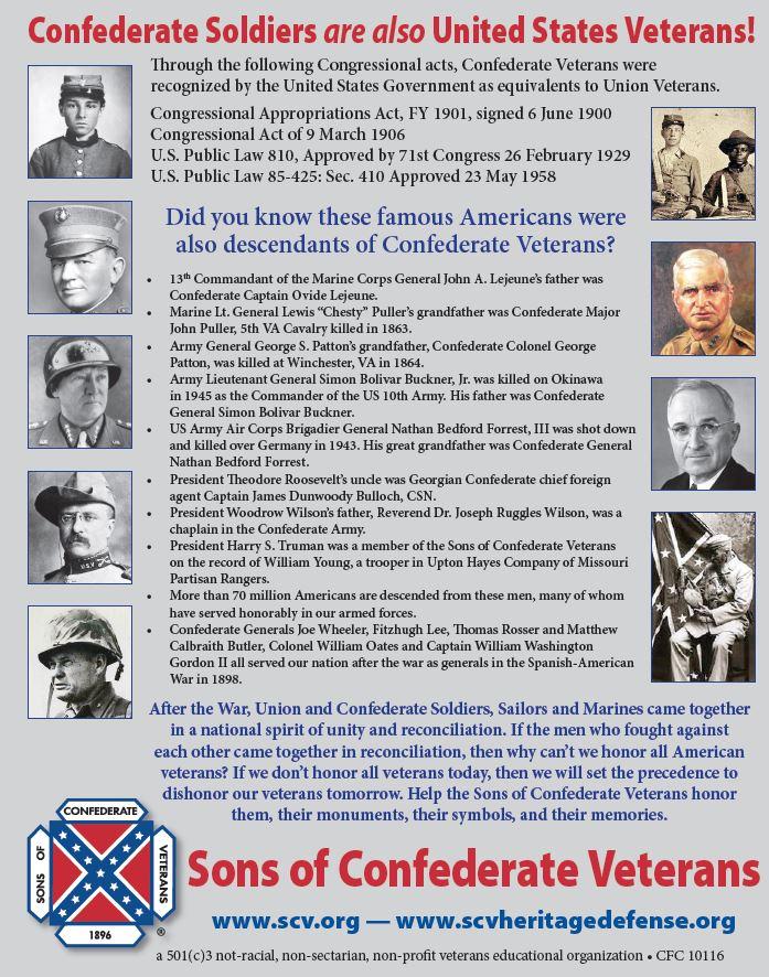 Confederate Veterans are American Veterans Flyer