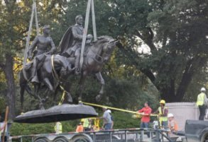 Civil War monuments broken .