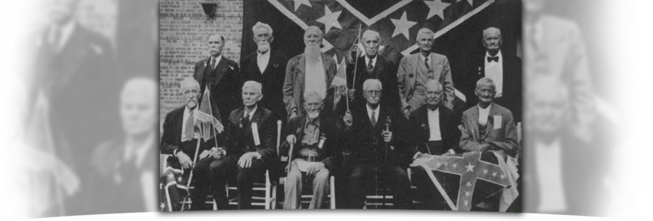 Image of the last reunion of Tyler Confederate soldiers.