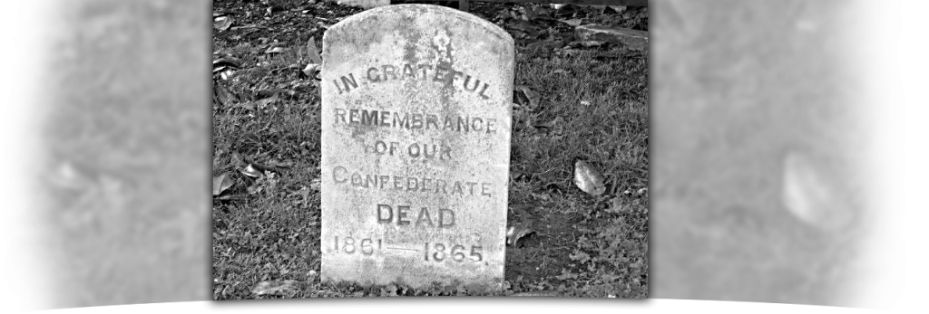 Image of headstone remembering fallen confederate soldiers.