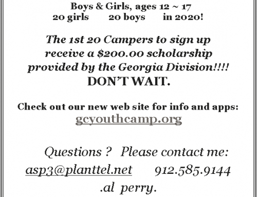 Campers Needed for the Georgia Confederates Youth Camp
