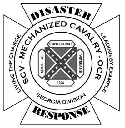 The Sons of Confederate Veterans Georgia Division Disaster Response Team Logo