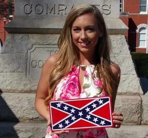 Confederate Battle Flag Vehicle Tag.